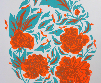 fleurs et renards